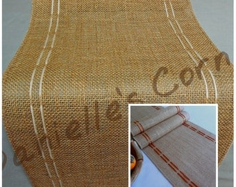 Burlap table runner rustic table runner farmhouse country table decor wedding table party decoration