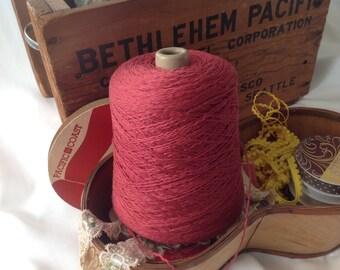 Terra Cotta Twist 100% Slubby Cotton Twist Yarn Cone - 1 lb 3 oz