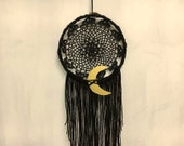 handmade black + gold dream catcher