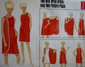 Butterick 4699 1960s Two-Way Wrap Around Dress Vintage Sewing Pattern Sz Small Misses