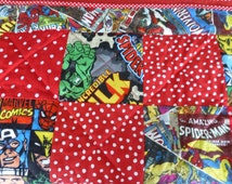 Marvel Avengers Superheroes*Spiderman*Hulk*Captain America*Iron Man*Red Spot fabric custom made Baby*Child Crib*Cot Quilt/Blanket/Bedding