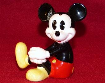 Vintage Disney Mickey Mouse Porcelain Figurine