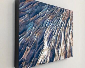 "Art Resin Print, Landscape Photography, Nature Art, Glacier, Large Art Prints, Blue Wall Decor, Nature Prints, ""Takue Glacier Crevasse"""