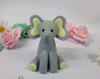 Handmade clay elephant