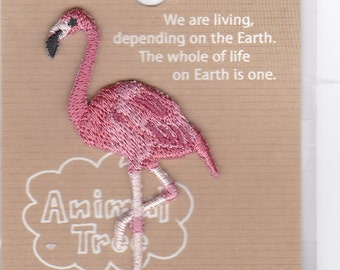 Flamingo Embroidered Iron-on Applique Iron-on Patch (H457-983) Buy other items together for BETTER price.