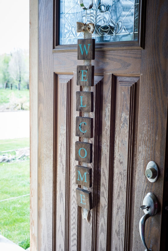 Wood sign wooden signs custom wood signs wooden house sign - Wooden door signs for home ...