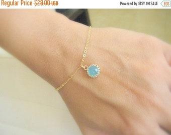 SALE - Gold opal bracelet - Opal jewelry - Gold bracelet bridesmaid -  Dainty gold bracelet - 14k gold filled bracelet - Gift for her