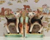 Vintage Deer Bookends - Bambi Kitsch