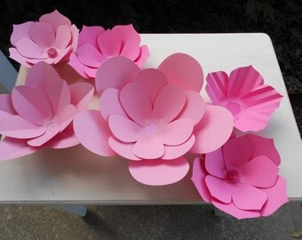 Pink Paper Flower Wall Backdrop Wedding Party Shower Decor