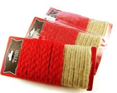 Trim, Rustic Jute, Red, Natural, Craft Supply, Valentine's Day, Gift Wrap Tie