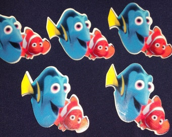 Finding Dory resins. Finding Nemo resins. Dory and nemo hair bow centers. Dory flatback resin. Nemo flatback resin. Disney flatback resins