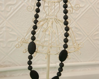 Black Silcone Teething Necklace
