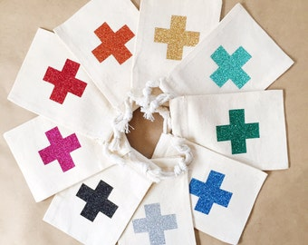 Glitter Hangover Kit Bag- Hangover Bag - Bachelorette Party Favor- Party Favor- Hangover Kits Bags- DIY Hangover Bags- Wedding Hangover