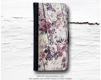 iPhone 6S Case Wallet, iPhone 6 Wallet Case Wood Print, iPhone 6s Case Floral, Wood iPhone 6 Wallet Case, iPhone 6S Flip Wallet Case F16