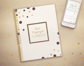 Undated Planner, Weekly Planner, Printable Calendar, Planner, Agenda, Black
