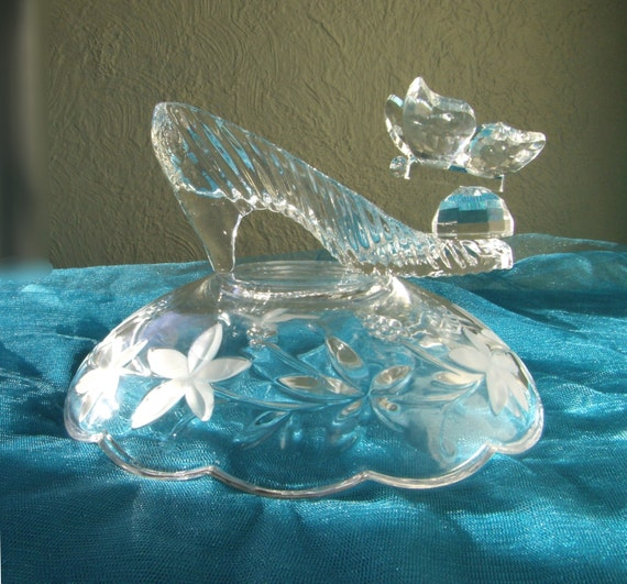 Free shipping cinderella glass slipper with by antoniasbazaar