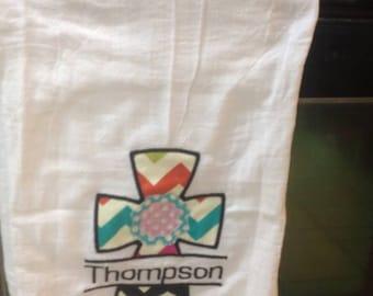 Beautiful Personalized Appliqued Tea Towel