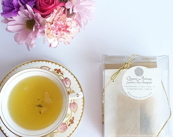 Organic Artisan Full Leaf Tea Sampler Set / Tea Lovers Sampler Set / Organic Full Leaf Tea / Tea Lovers Gift / Bridesmaid Gift