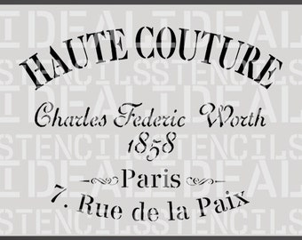 stencil, french, shabby chic vintage, Haute Couture, furniture stencil, wall painting art craft stencil