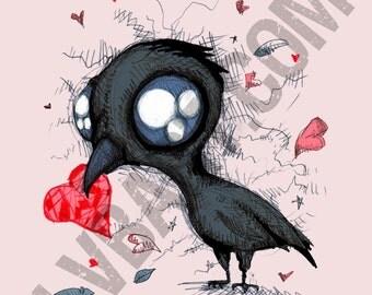 Baby Crow Fine Art Print