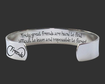 Bridesmaid Gifts | Gift for a Friend |Gifts for Friends | Truly great friends... Custom Personalized  Bracelet Korena Loves