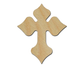 Unfinished Wood Cross Wooden Craft Crosses Part C11-123 Cross  9 x 10.75 inch