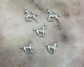 Horse Charms Silver tone