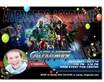 Avengers Invitation - Printable The Avengers birthday Invitation