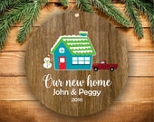Our New Home Ornament Our First Christmas Ornament Christmas Ornaments Personalized New Home Ornament Personalized Family Ornaments A209