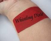 Whistling Dixie - Rich Red with Pink Undertones - Cream Liquid Matte Lipstick - Matte Lipstick VEGAN Lips Mineral Makeup Goth Pastel Goth