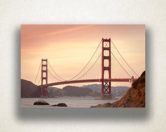 Golden Gate Bridge Canvas Art, San Francisco Wall Art, Bridge Canvas Print, Artwork, Photograph, Canvas Print, Home Art, Wall Art Canvas