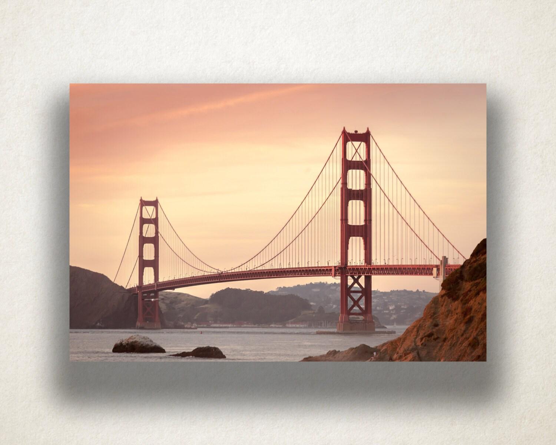 golden gate bridge canvas art san francisco wall art bridge. Black Bedroom Furniture Sets. Home Design Ideas