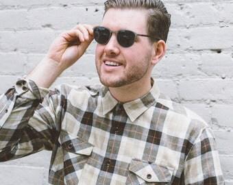 Wood Sunglasses, Silver/Grey Titanium & Ebony Wood Sunglasses - ATL-SL