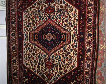 Persian Rug 1970s Hand-Knotted Bakhtiari Persian Rug (1652)