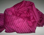 Small Scarf Indian Silk Scarf Neck Scarf Purple Scarf Striped