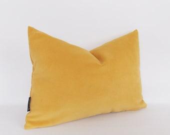 Velvet Cotton Mustard Lumbar Pillow Cover, Decorative Pillow, Throw Green Pillow, All Size
