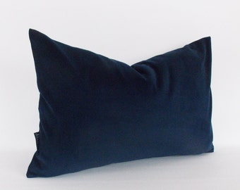 Velvet Cotton Navy Pillow Cover, Decorative Pillow, Throw Green Pillow, Navy Lumbar Pillow,All Size