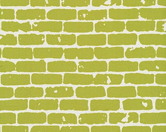 Bricks by Latifah Saafir for Me & You Fabrics - Hoffman Fabrics Grafic Collection Modern Fabric Modern Citron Green Fabric