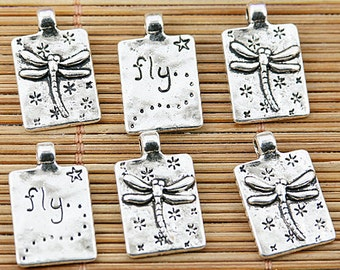 20pcs Tibetan silver dragonfly fly charms EF1650
