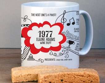 Personalized 1977 Birthday Mug For 40th Birthday-USA History Version-1977 Birthday Gift-Personalized Birthday Gift-40th Gift-Gift for Mom