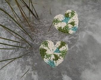 Crochet heart 100% cotton