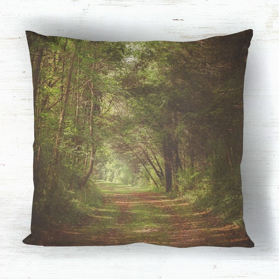 Rustic Decorative Pillow Covers : Rustic Forest Decorative Throw Pillow Cover by SuzanneHarfordPhoto