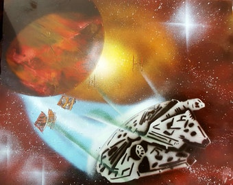 Millennium Falcon- Star Wars - Spray Paint Art