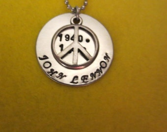 John Lennon Birth date-date of death necklace