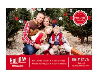 MB6 :. Holiday Mini Session template | Holiday Minis