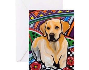 Labrador Dog - 4 Greeting Cards By Artist A.V.Apostle