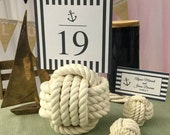 Nautical Wedding - 16 Nautical Rope Table Number Holders -Beach Wedding Decor in  Manila or Cotton
