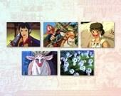 Princess Mononoke Set of 5 Stickers