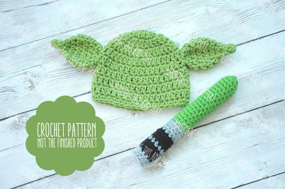 Crochet Pattern Green Mythical Creature Baby Hat Pattern
