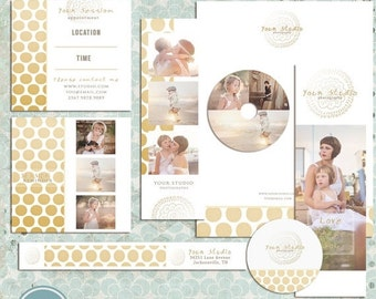 ON SALE Golden Premade Photography Marketing Set Templates - INSTANT Download